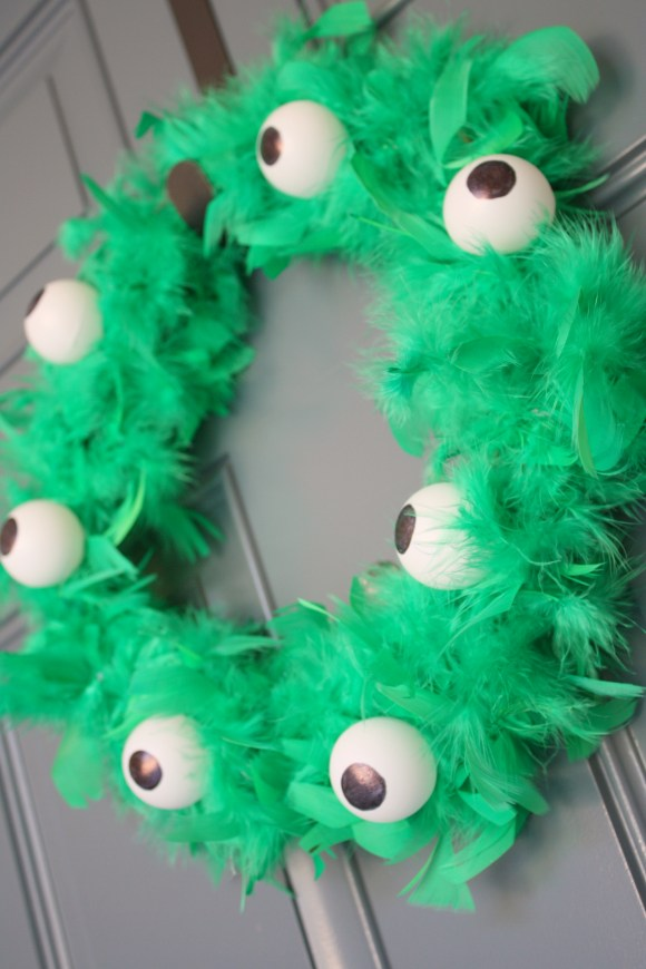 Quick and Easy Monster Wreath