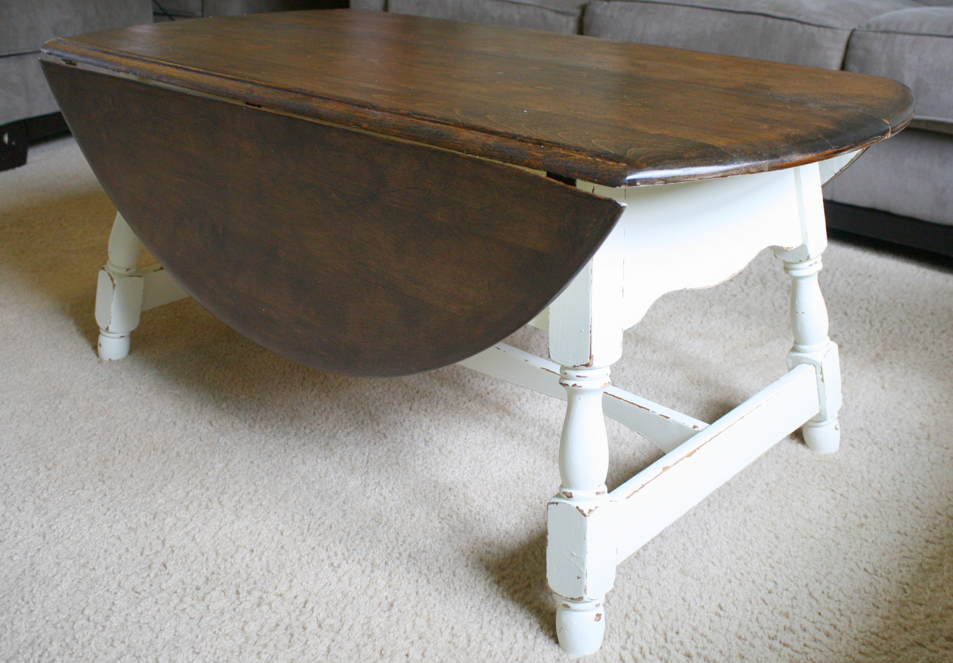 Drop leaf farmhouse coffee table Farmhouse coffee tables