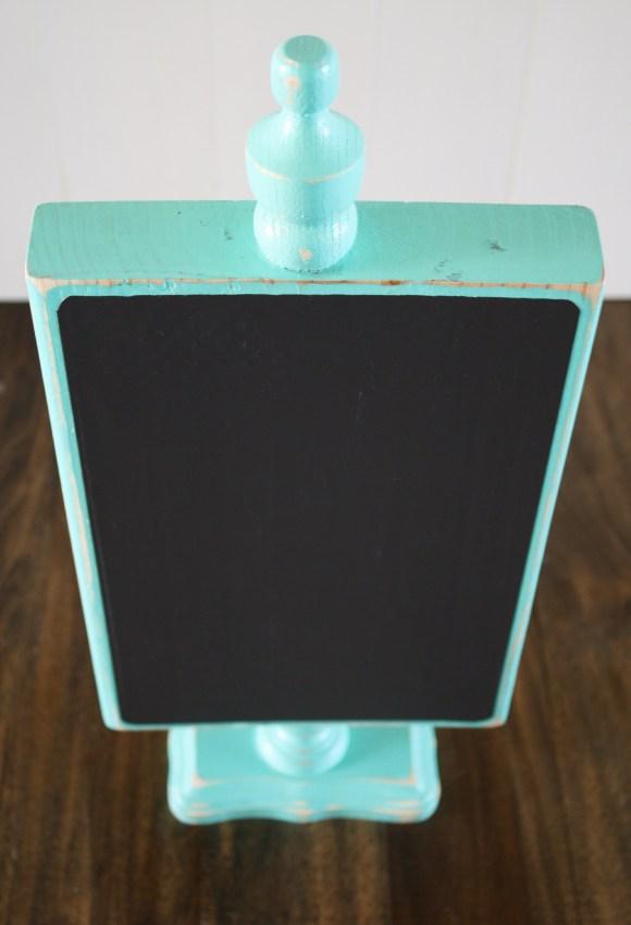 Wood Pedestal Chalkboard