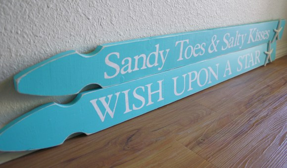 Fence board signs