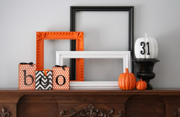 Bootiful Halloween Mantel