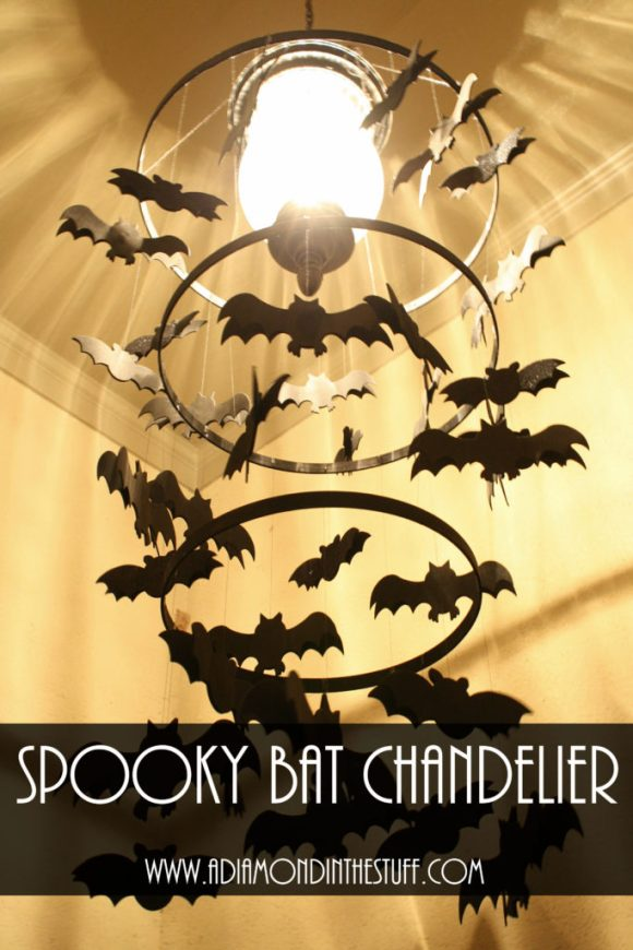 Spooky Bat Chandelier | A Diamond in the Stuff