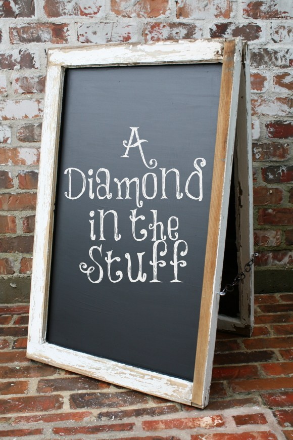 DIY Window Chalkboard Easel