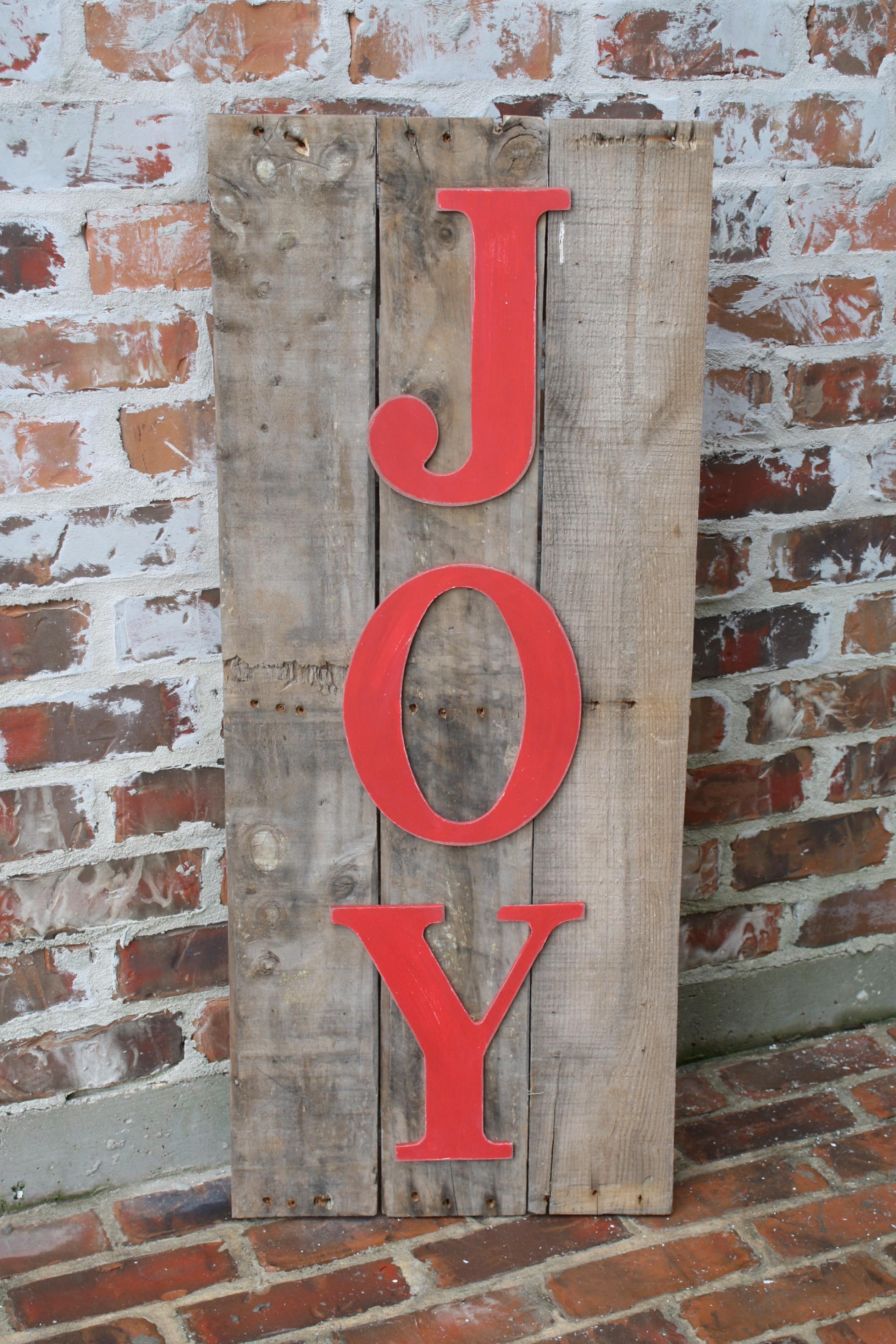 Joy Pallet Sign