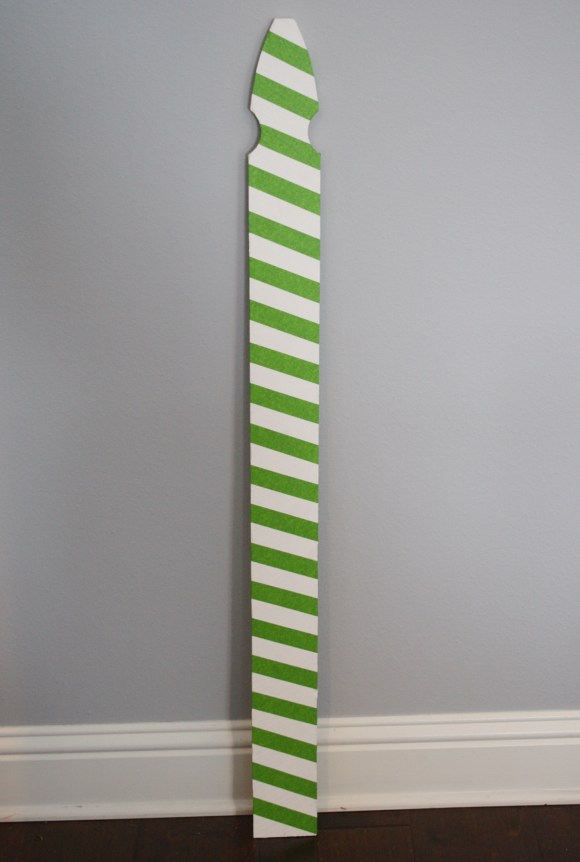 Candy Cane Fence Board Sign