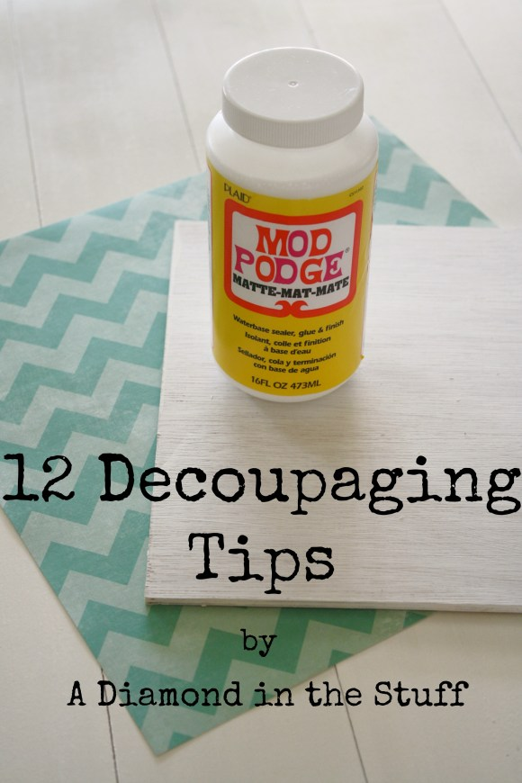 12 decoupaging tips