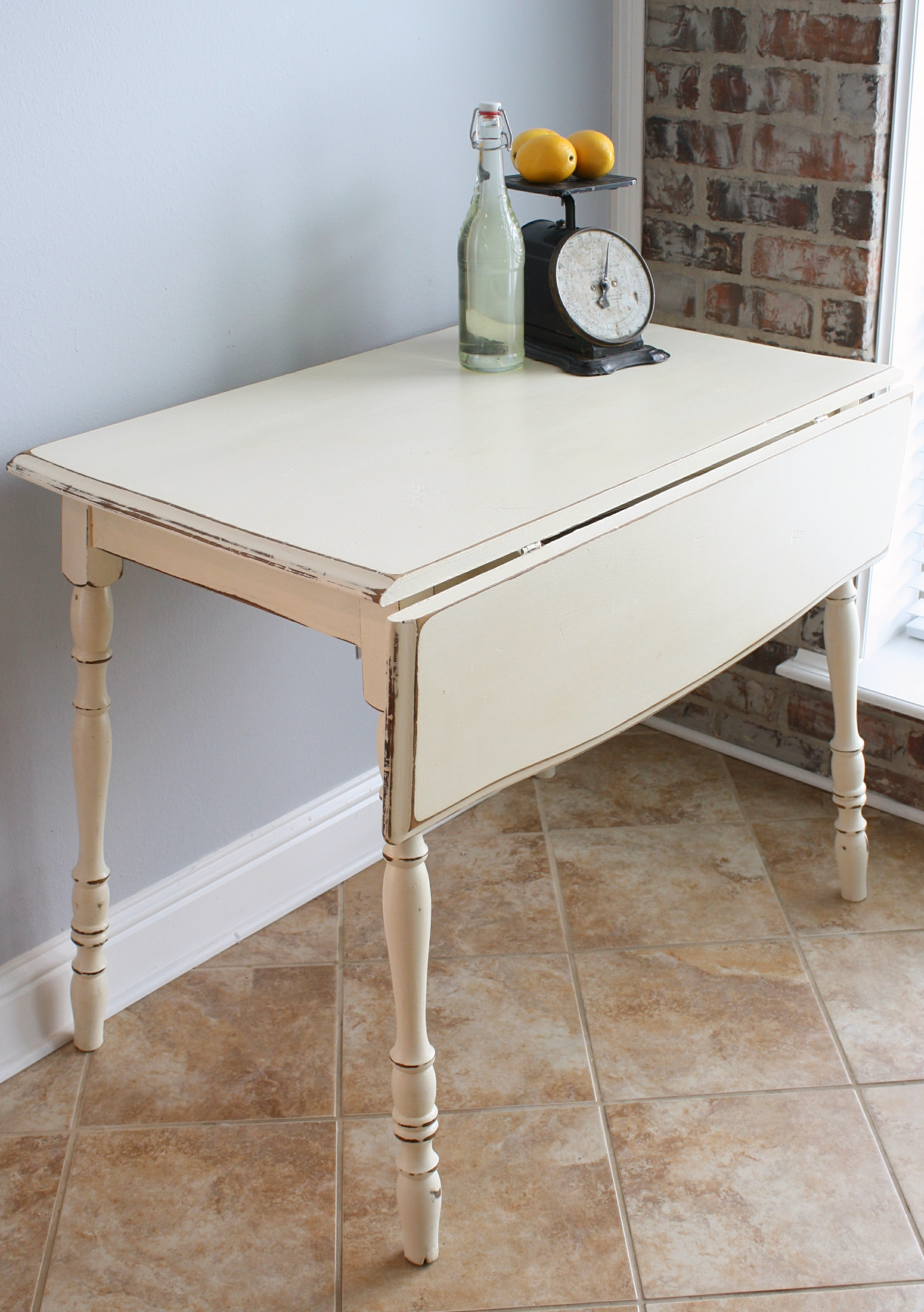 Kitchen drop leaf tables - I Hope You Enjoyed The Transformation Of My Vintage Drop Leaf Kitchen Table