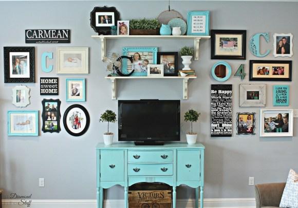 Bright Living Room Wall Gallery
