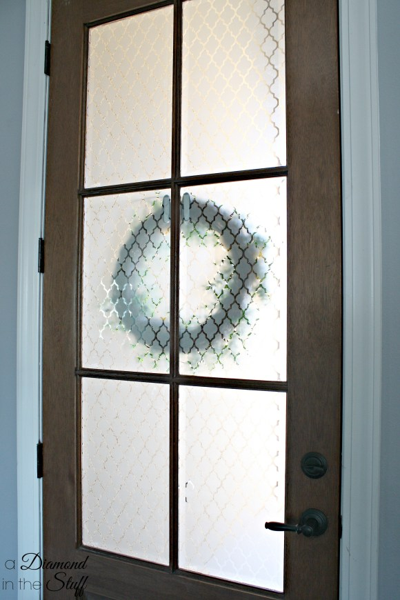 Faux Etched Glass Front Door