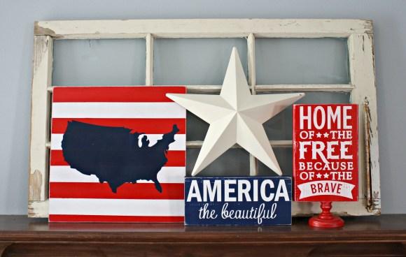 USA Map Sign