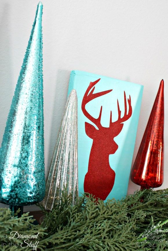 Glitter Reindeer Silhouette