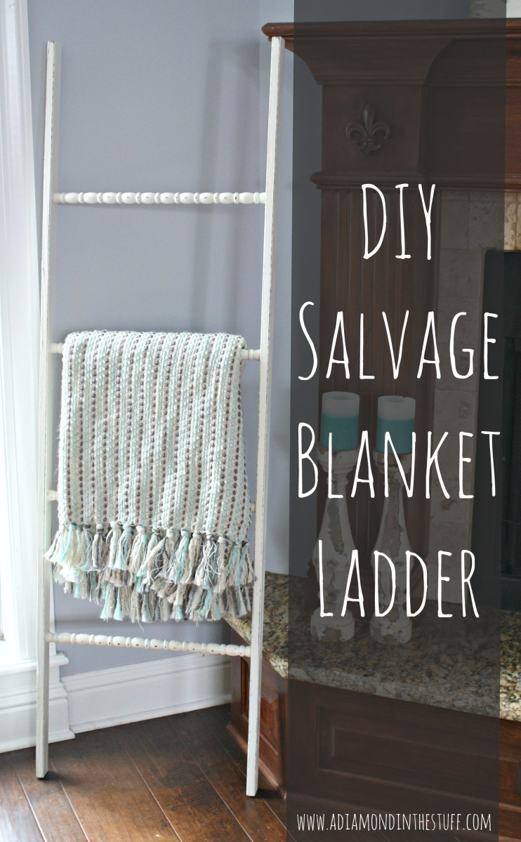 Diy Salvage Blanket Ladder