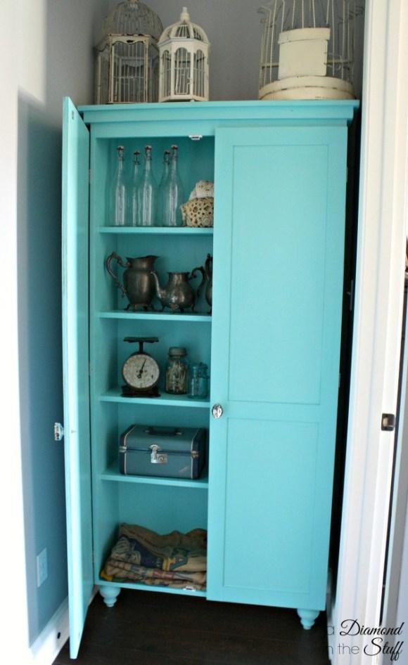 DIY Aqua Storage Cabinet | A Diamond in the Stuff