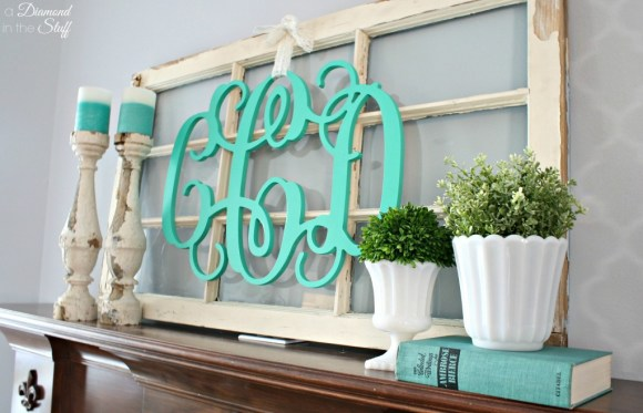 Spring Monogram Mantle | A Diamond in the Stuff