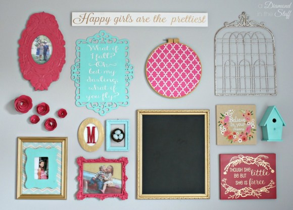 Girl's Room Gallery Wall | A Diamond in the Stuff