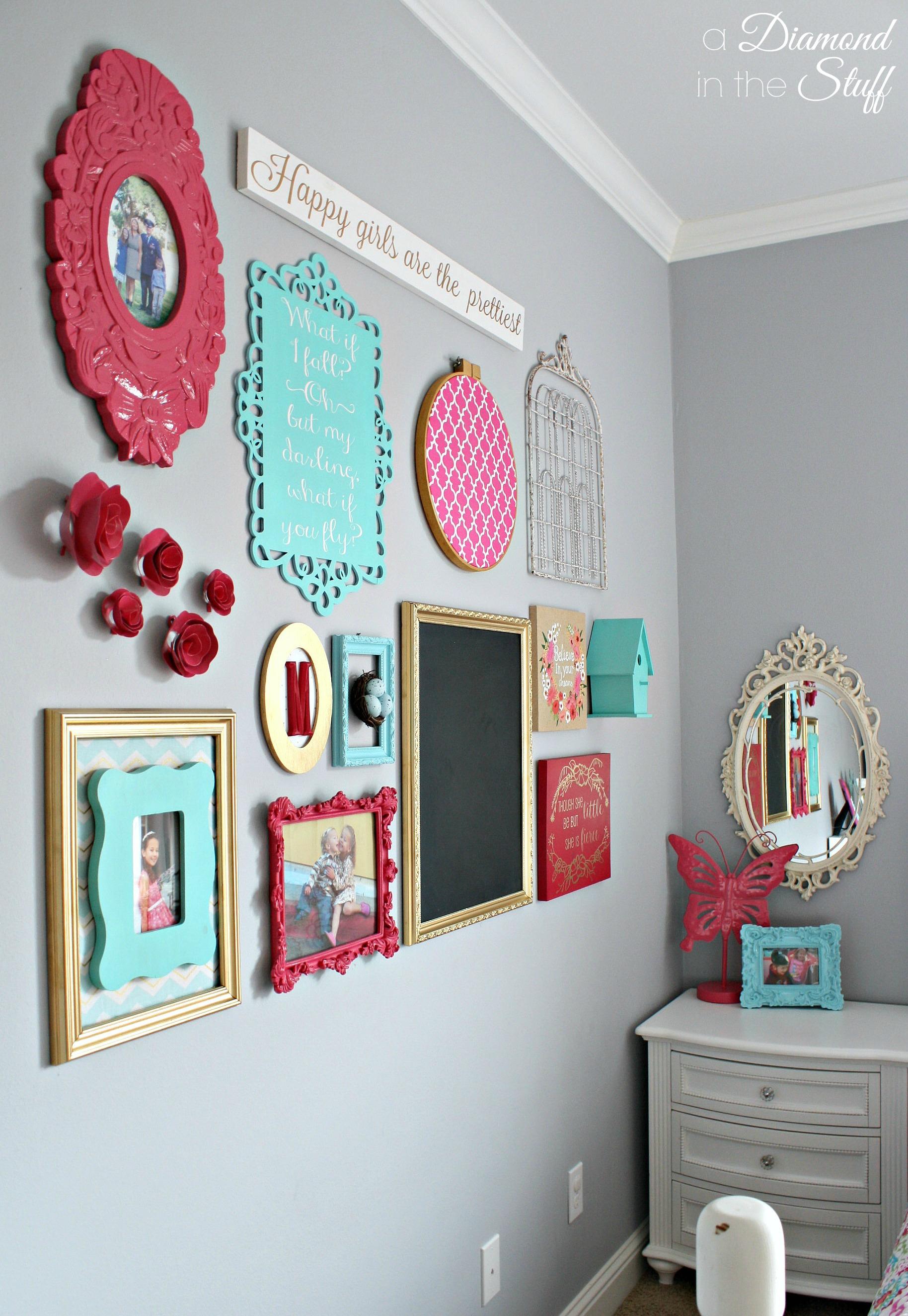 Girl's Room Gallery Wall on Room Wall Decor id=37251