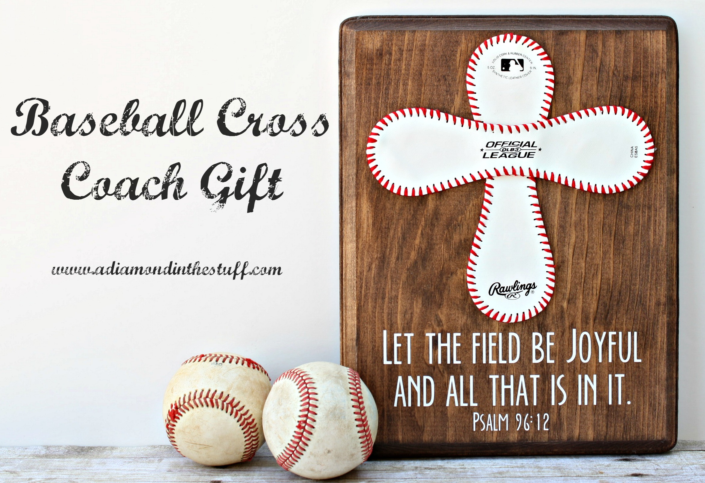 Baseball Cross Coach Gift