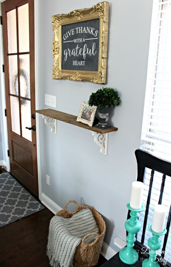 My Small and Simple Entryway | A Diamond in the Stuff