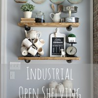 Industrial Open Shelving | A Diamond in the Stuff