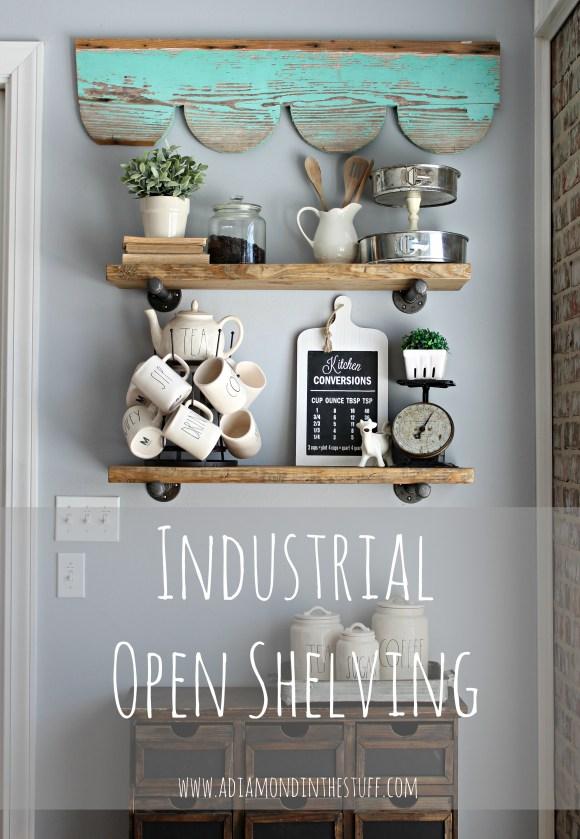 Industrial Open Shelving | A Diamond in the Stuff