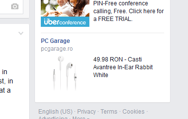 Facebook pcgarage ad