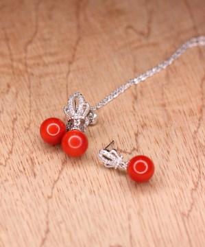 Pearl Zircon Stone Necklace