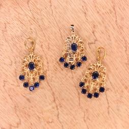 Gold Palette Zircon Stone Necklace