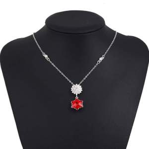 Stainless Steel Zircon Stone Necklace