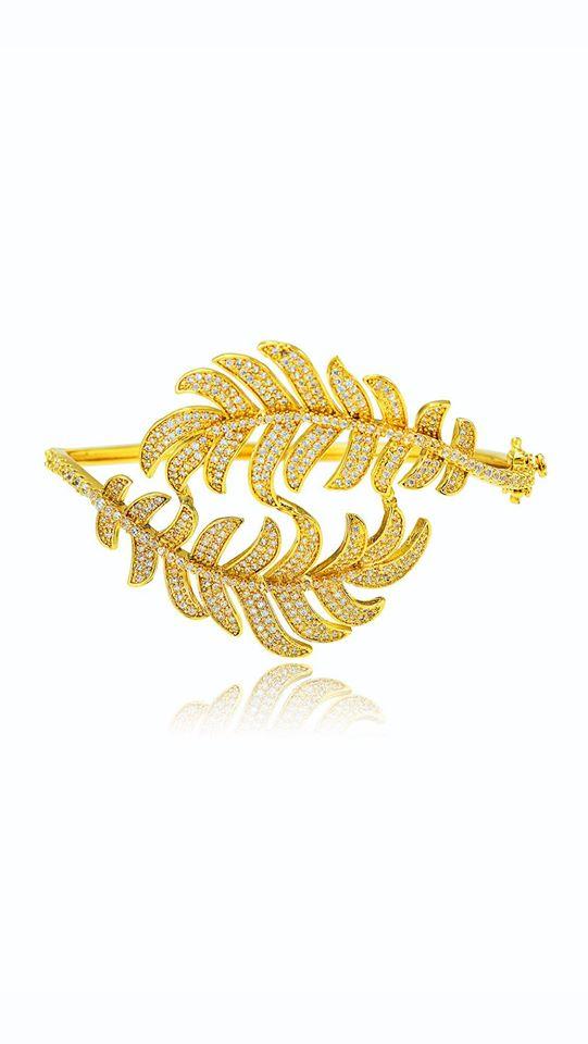 24K gold color fashoin bangle