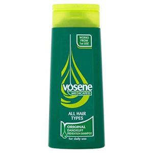 Original Vosene Medicated Shampoo Dandruff prevention shampoo Suitable for all hair types Helps maintain the natural protection of your scalp Dermatologically tested