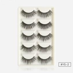 Magefy 5 Pair 3D Natural Mink Eyelashes 7087-Y52