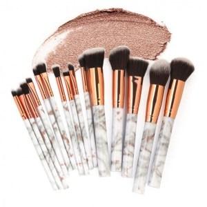 Maange 15Pcs Marble Makeup Brush