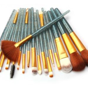 Maangee 18pcs Sky Blue With Golden brush Set