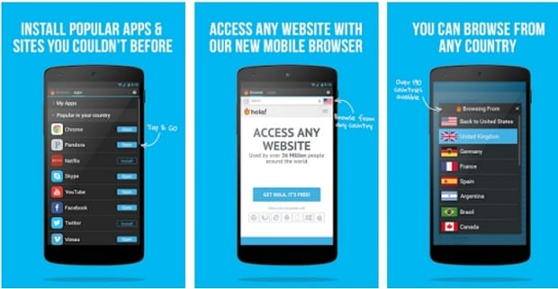 hola freee vpn - Aplicaciones VPN Para Android
