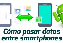 pasar datos entre smartphones