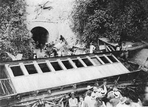 Accidente en el Túnel Negro en 1910
