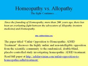 Allopathy vs Homeopathy ADHD Treatment adidarwinian