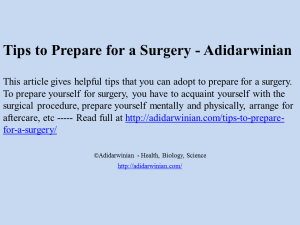 Tips to Prepare for a Surgery image Adidarwinian
