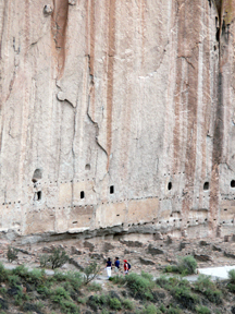 Cliff Dwellings at Bandelier National Monument (photo credit: Sally King, National Park Service)