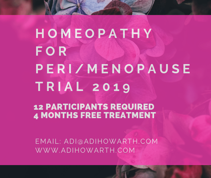 FREE homeopathy for peri-menopause and menopause: Join my 2019 study !