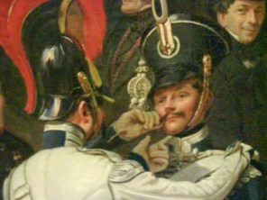On the left: 'Chin up! Perfect! Everyone will fall in love with you in this painting' Midde: 'Oh yes, I'm such a handsome fellow' Top right: merely amused. All he's missing is a raised eyebrow.