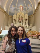 Andrea received Confirmation and First Eucharist at Easter Vigil! and I grew a second (mini) head.