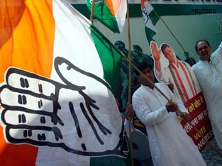 Colours of Congress Shine while the Saffron Colour Fades. 2009 Assemble Tri Victory of Secular Forces is Begining of a Rahul Lead 2014