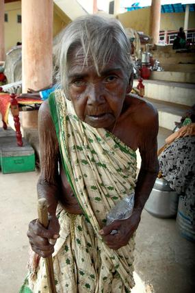 """Flood Victim, from Alampur, Mehboobnagar, """"Kanakamma""""  her name means Golden Lady, in Telugu. Fate has brought mesiry to her, we incresing her mesiry by delaying effective help."""