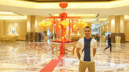 Adil Musa inside Emirates Palace
