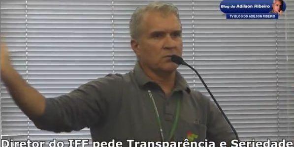 Itaperuna Quarta-feira 22:30 – Diretor do IFF pede Transparência e Seriedade em Audiência Pública. Click em Leia Mais, assista ao Vídeo e dê a sua Sugestão: