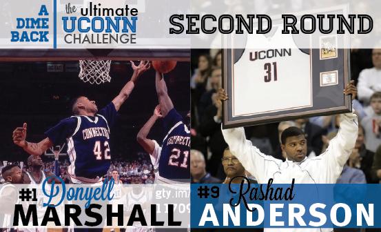 Donyell Marshall vs. Rashad Anderson