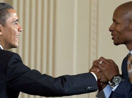 President Obama and Ray Allen