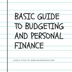 Basic Guide to Budgeting and Personal Finance