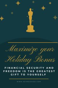 Maximize Holiday Bonus Pin